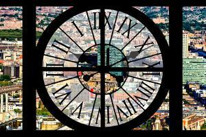 Giant Clock Window - View of Brooklyn by Philippe Hugonnard