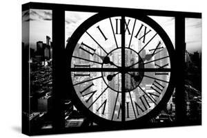 Giant Clock Window - View of Philadelphia at Sunset by Philippe Hugonnard