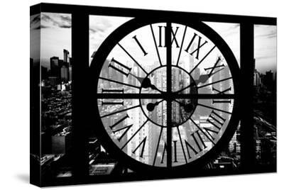Giant Clock Window - View of Philadelphia at Sunset