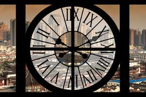 Giant Clock Window - View of Shanghai - China by Philippe Hugonnard