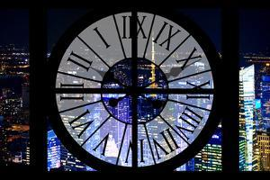 Giant Clock Window - View on the New York City - City of Lights V by Philippe Hugonnard