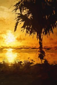 Golden Beach - In the Style of Oil Painting by Philippe Hugonnard
