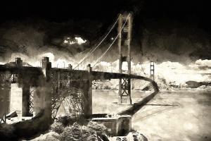 Golden Gate Bridge BW by Philippe Hugonnard