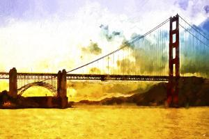 Golden Gate Sunset by Philippe Hugonnard