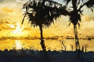 Golden Sky - In the Style of Oil Painting by Philippe Hugonnard