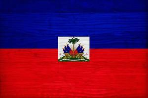 Haiti Flag Design with Wood Patterning - Flags of the World Series by Philippe Hugonnard