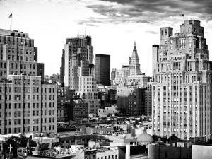 High Rises in Lower Manhattan Viewed from a Chelsea Rooftop, Sunset, Meatpacking District, New York by Philippe Hugonnard