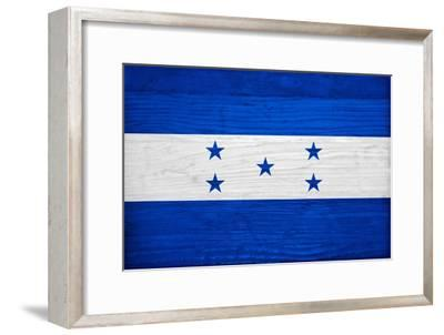 Honduras Flag Design with Wood Patterning - Flags of the World Series