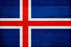 Iceland Flag Design with Wood Patterning - Flags of the World Series by Philippe Hugonnard