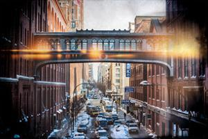 Instants of NY Series - Cityscape Snowy Winter in West Village by Philippe Hugonnard