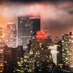 Instants of NY Series - Landscape Foggy Night in Manhattan with the New Yorker Hotel View by Philippe Hugonnard