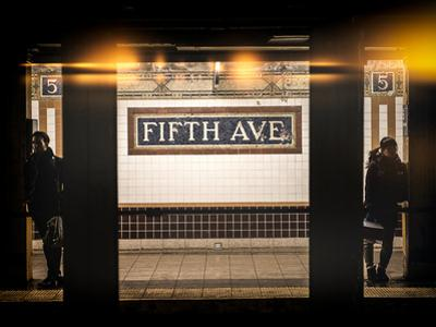 Instants of NY Series - Moment of Life in NYC Subway Station to the Fifth Avenue - Manhattan