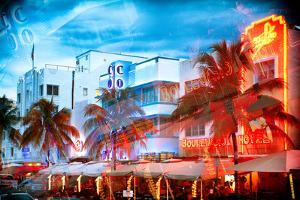 Instants of Series - Colorful Ocean Drive - South Beach - Miami Beach Art Deco Distric - Florida by Philippe Hugonnard