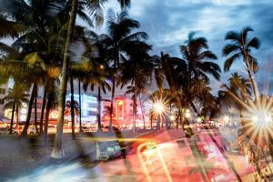 Instants of Series - Colorful Street Life - Ocean Drive by Night - Miami by Philippe Hugonnard