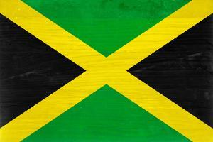 Jamaica Flag Design with Wood Patterning - Flags of the World Series by Philippe Hugonnard