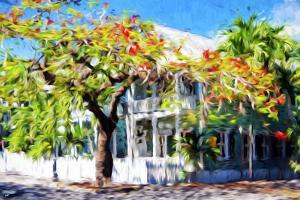 Kew West Cottage - In the Style of Oil Painting by Philippe Hugonnard