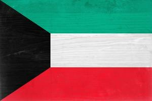 Kuwait Flag Design with Wood Patterning - Flags of the World Series by Philippe Hugonnard