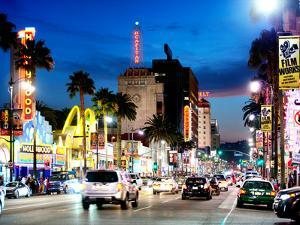 Landscape, Night, Hollywood Blvd, Los Angeles, California, United States by Philippe Hugonnard