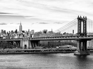 Landscape View of Midtown NY with Manhattan Bridge and the Empire State Building by Philippe Hugonnard