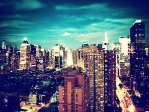 Landscape View of Times Square, Skyscrapers View, Midtown Manhattan, NYC, NYC by Philippe Hugonnard