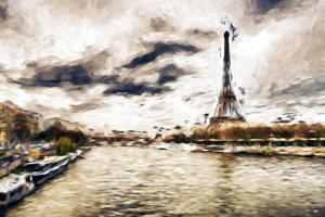 Late Afternoon in Paris - In the Style of Oil Painting by Philippe Hugonnard