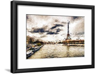 Late Afternoon in Paris - In the Style of Oil Painting