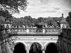 Lifestyle Instant, Central Park, Black and White Photography Vintage, Manhattan, United States by Philippe Hugonnard
