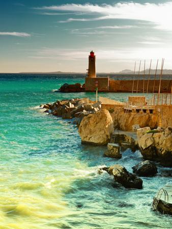 Lighthouse - Nice Port - France by Philippe Hugonnard