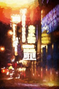 Lights of Broadway - In the Style of Oil Painting by Philippe Hugonnard