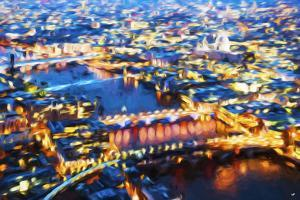 London Cityscape VI - In the Style of Oil Painting by Philippe Hugonnard