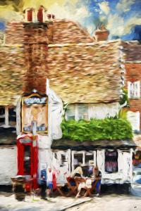 London Coffee - In the Style of Oil Painting by Philippe Hugonnard