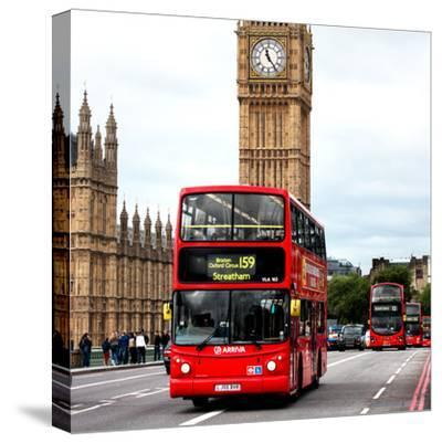 Red London Bus Big Ben City Canvas Wall Art Picture Print