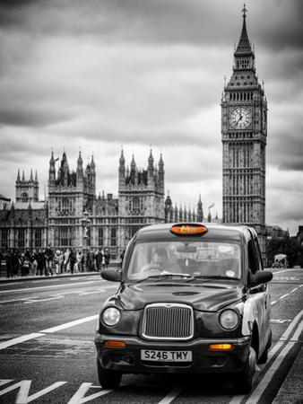 London Taxi and Big Ben - London - UK - England - United Kingdom - Europe