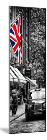 London Taxi and English Flag - London - UK - England - United Kingdom - Door Poster by Philippe Hugonnard