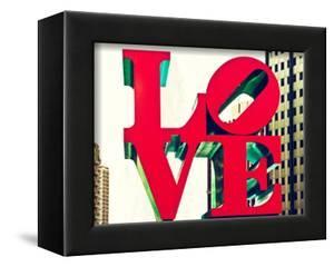 Love Park, Jfk Plaza, Museum of Art, Philadelphia, Pennsylvania, US, White Frame by Philippe Hugonnard