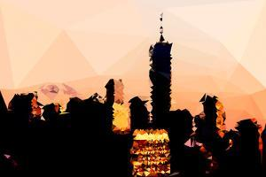 Low Poly New York Art - 1 WTC Sunset by Philippe Hugonnard