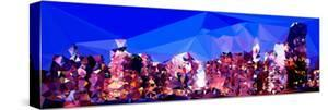 Low Poly New York Art - Blue Dusk by Philippe Hugonnard