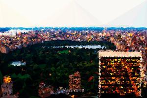 Low Poly New York Art - Central Park at Dusk II by Philippe Hugonnard