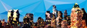Low Poly New York Art - Dusk on Manhattan by Philippe Hugonnard