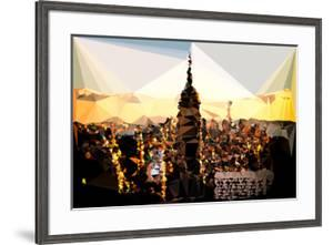 Low Poly New York Art - Empire State Building Sunset by Philippe Hugonnard