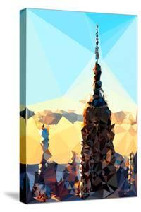 Low Poly New York Art - Empire Sunset by Philippe Hugonnard