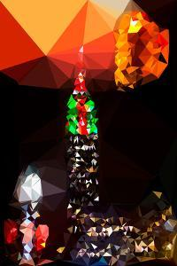 Low Poly New York Art - Empire Traffic Light by Philippe Hugonnard