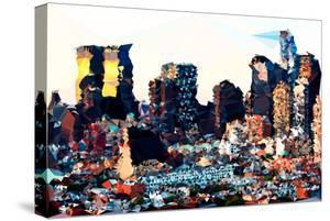 Low Poly New York Art - Hell's Kitchen Buildings by Philippe Hugonnard