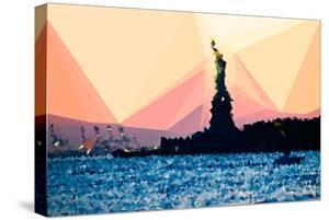 Low Poly New York Art - Liberty by Philippe Hugonnard