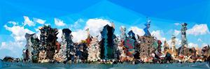 Low Poly New York Art - Manhattan Blue by Philippe Hugonnard