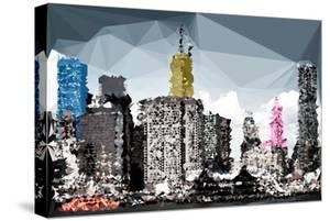 Low Poly New York Art - Manhattan Buildings II by Philippe Hugonnard
