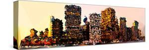 Low Poly New York Art - Manhattan Buildings by Philippe Hugonnard
