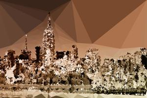 Low Poly New York Art - Manhattan Caramel by Philippe Hugonnard