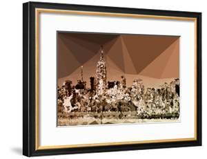 Low Poly New York Art - Manhattan Caramel by Philippe Hugonnard