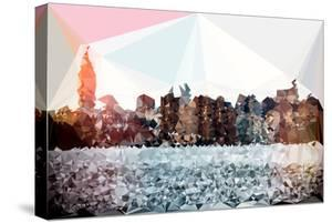 Low Poly New York Art - Manhattan Cityscape III by Philippe Hugonnard